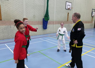 Senior belts training with Mr Keith